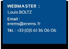 Coordonnées Webmaster Erems
